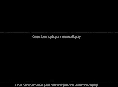La tipografía corporativa es la familia Open Sans
